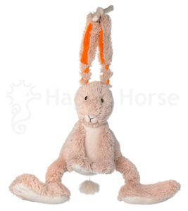 Vriendelijk konijntje als muziekdoosje. Het heeft 'Slaap kindje slaap' als muziekje