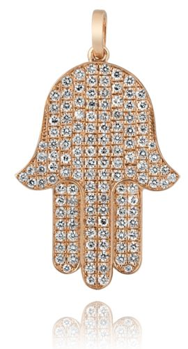 Rosenzweig Jewelry Hamsa Hand - perfect Diamonds setted in Rose Gold