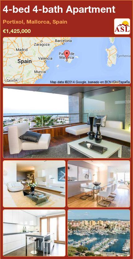 4-bed 4-bath Apartment in Portixol, Mallorca, Spain ►€1,425,000 #PropertyForSaleInSpain