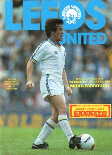 Leeds United vs Middlesbrough 1980