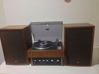 Vintage-Retro-Sansui-Turntable-Record-Player-Amp-And-Speakers