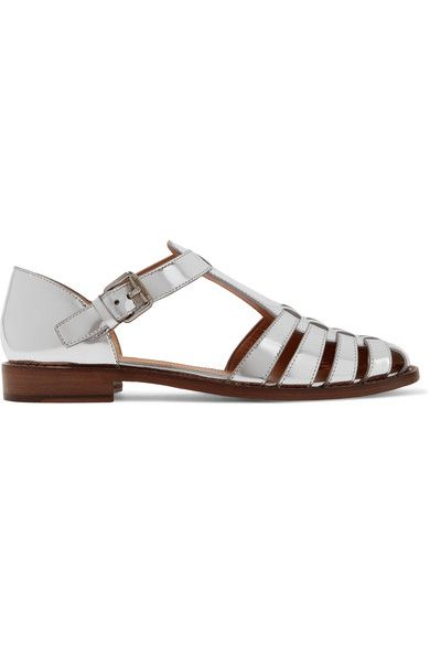 Church's - Kelsey Metallic Leather Sandals - Silver - IT36