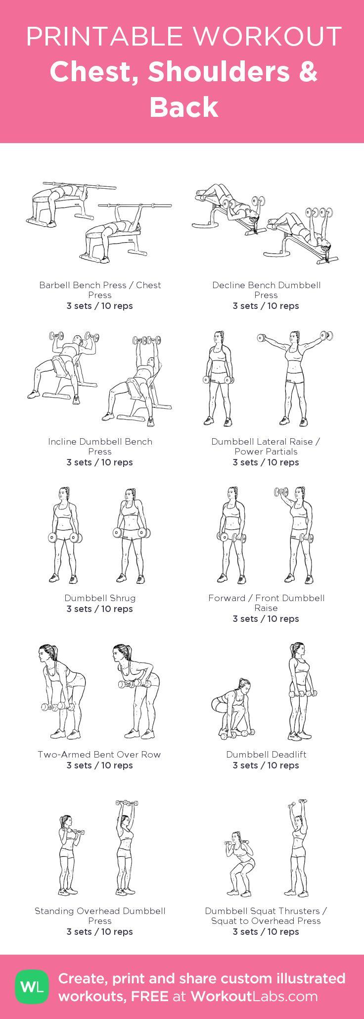 Chest, Shoulders & Back Back and shoulder workout