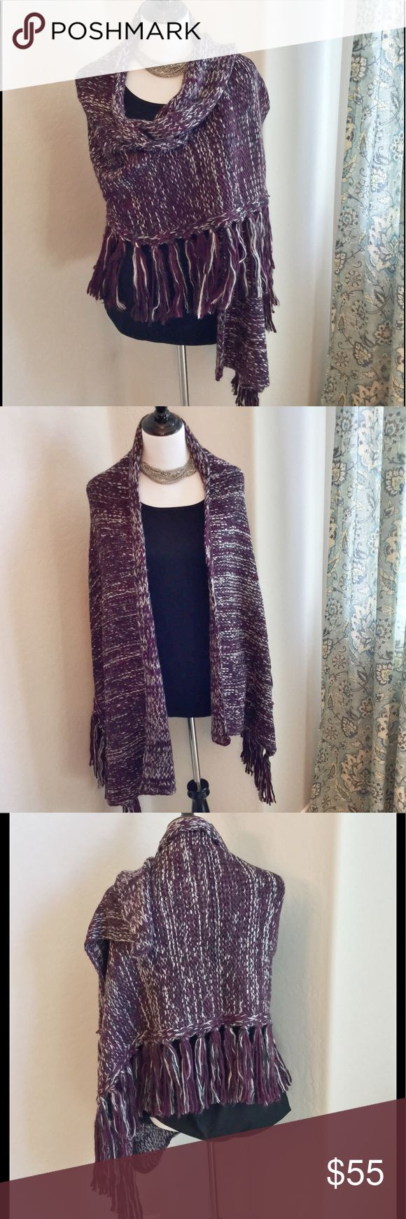 ❄️Rebecca Minkoff Wrap This gorgeous knitted wrap by Rebecca Minkoff is divine. The softness and coziness of this wrap is perfect for the upcoming cool weather. The color is a plum and white blend. Brand new, never worn, no tag. ❄️ This is park of the pre-winter wear sale. Bundle for additional savings. Rebecca Minkoff Accessories Scarves & Wraps