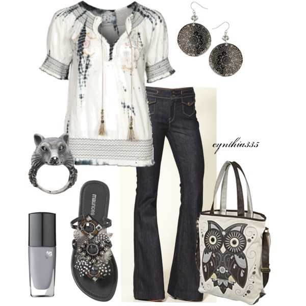 Pretty Peasant Blouse, created by cynthia335 on Polyvore
