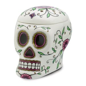 Calavera Scentsy Warmer A stunning example of the enigmatic and intricately designed sugar skulls so prevalent in Mexican folk art, Calavera is a remarkable feast for the eyes.