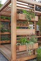 Outdoor Room Deck with windowboxes | Plant & Flower Stock Photography: GardenPhotos.com