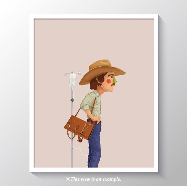 art poster design, art poster for classroom, wall art poster, art poster beautiful, modern art poster, art poster ideas, movie art poster, movie, illustration, illust, drawing art, drawing, Dallas Buyers Club