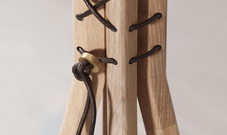 Leather details from #cancan coat rack. #wewood #coatstand #solidwood #leather