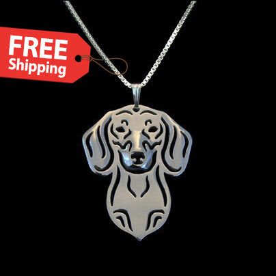 New Arrival Silver/Gold Plated Dachshund Pendant Necklace