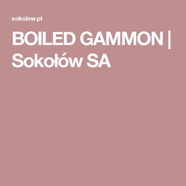 BOILED GAMMON   Sokołów SA