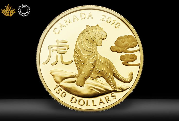 Tiger coin design by Aries Cheung for Royal Canadian Mint