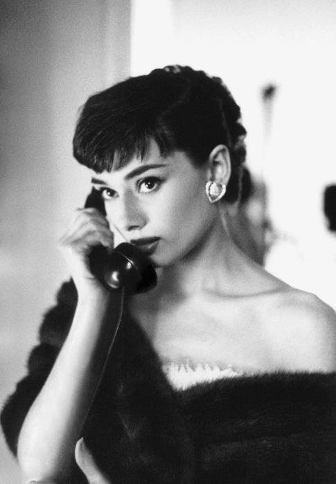 Audrey Hepburn fuera de foco