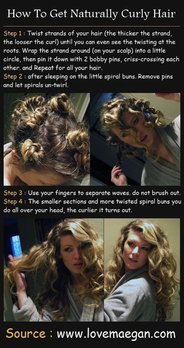 """You can also easily curl your hair overnight without an iron""..."