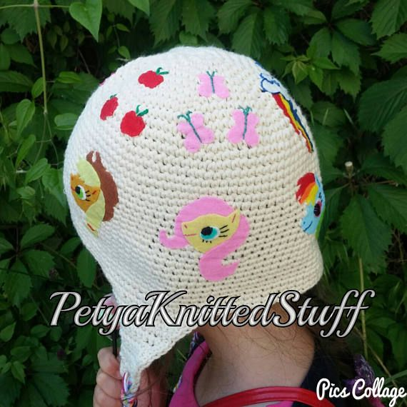 My little pony hat  My little Pony crochet hat with appliques