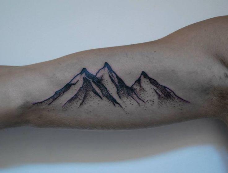 Mountains Tattoo On Sleeve