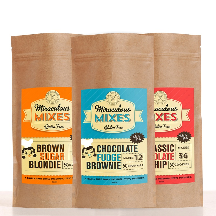 Gluten Free Mix Variety 3Pk - fudge brownie, blondie, and chocolate chip cookie