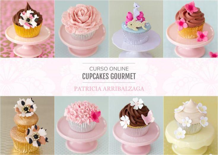 Curso Online de Cupcakes Gourmet - Patricia Arribálzaga www.cakeshautecouture.com