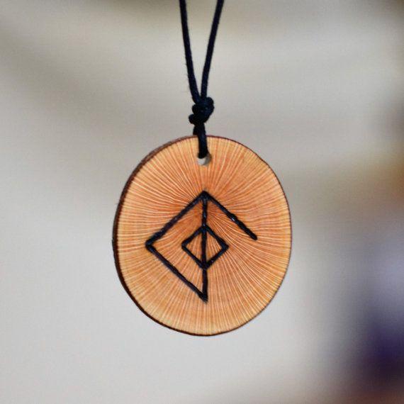 Viking trailer amuleto rúnico amor hombres collar lazo runa