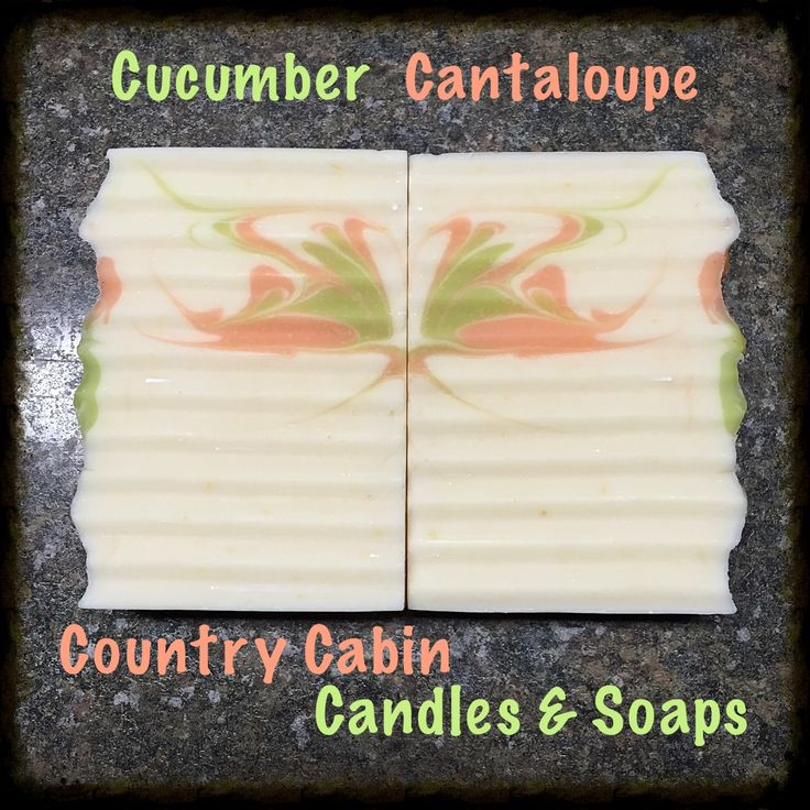 Cucumber Cantaloupe Goat Milk Soap Made the cold process way! Fresh and light!