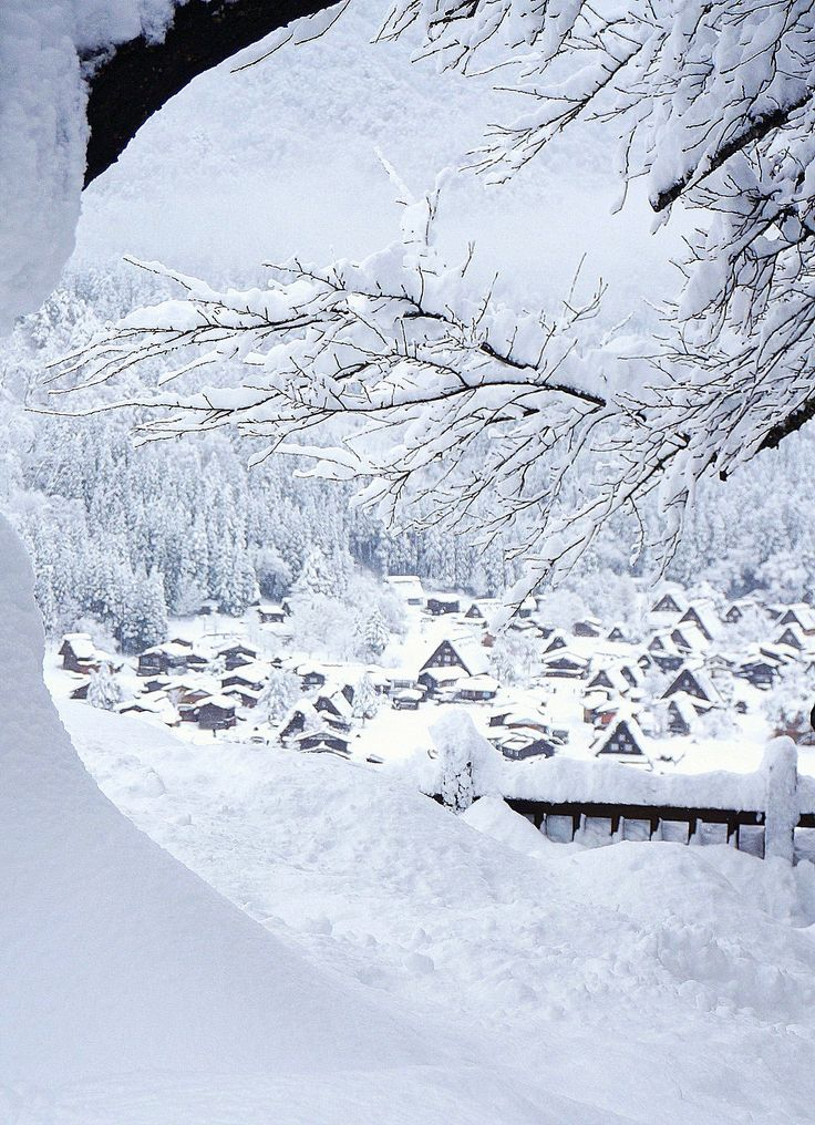 Winter in Japan - shirakawa-go, world heritage in japan