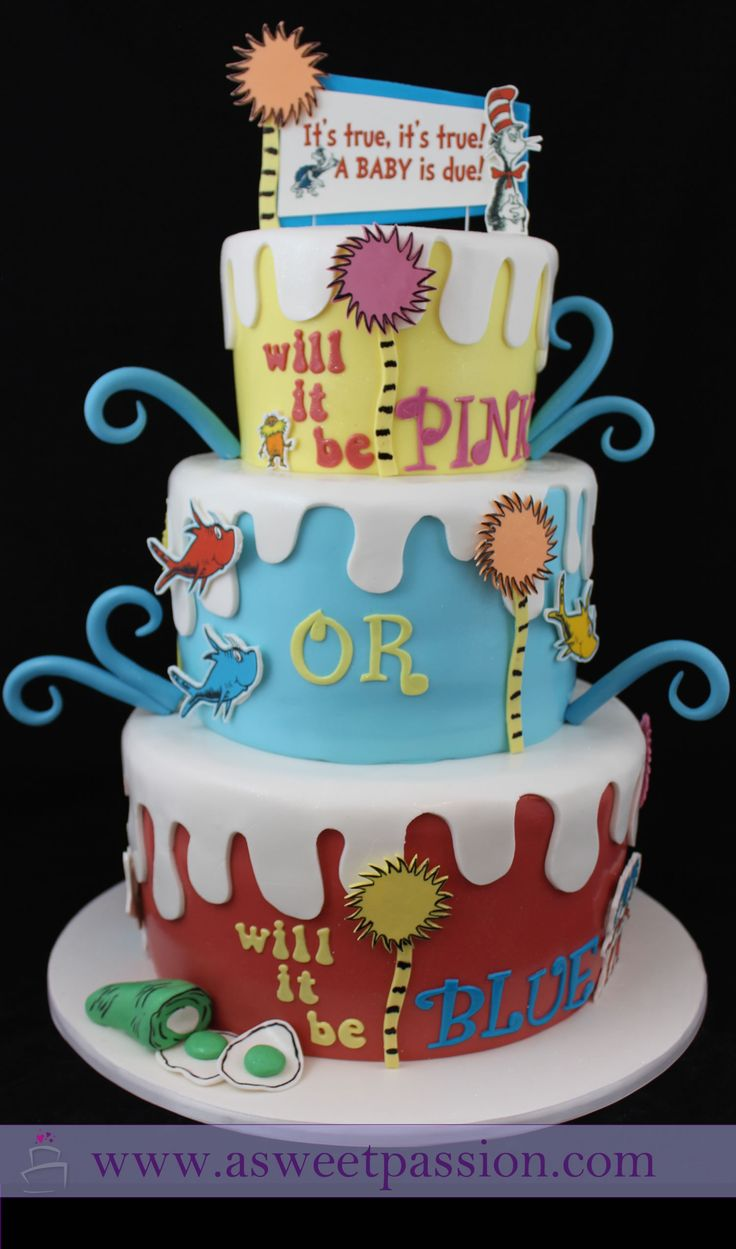 Exceptional Baby Shower Reveal Cakes Part - 10: A Baby Is Due! Will It Be Pink Or. Baby Reveal CakesGender ...