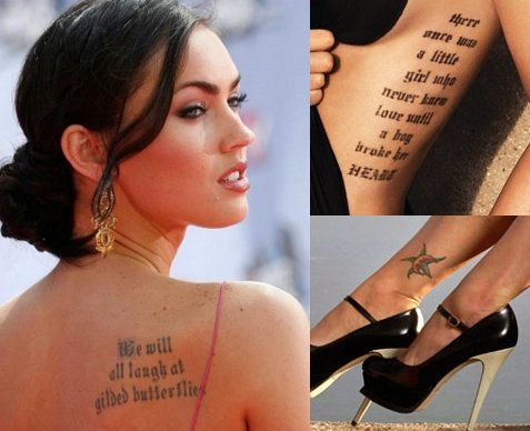 Hottest Female Celebrity Tattoos Fashion Trend ~ Love-sepphoras