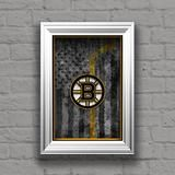 Boston Bruins Hockey Poster, Boston Bruins Hockey Flag Bruins Gift, Ma                      – McQDesign