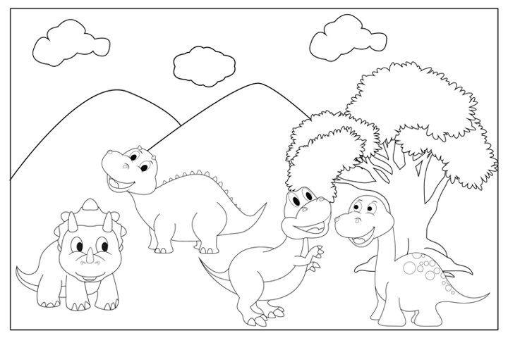 Dinosaur Animal Coloring Sheets For Kids 763451 Coloring Pages Design Bundles Dinosaur Coloring Pages Dinosaur Coloring Coloring Sheets