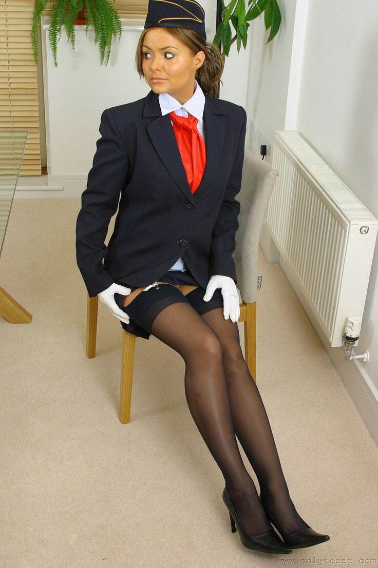 Japanase stocking air hostess husami