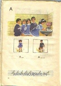 I remember washing hands at school ( it was the hepathytis scare every year ). Some friend brought Chinese soap shaped like a little booklet. Each page of the book was made of a translucent sheet of soap and was dissolving in my hands forming bubbles. I thought it was pretty cool ( page from first grade romanian school book)