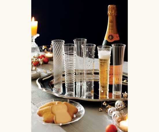 Venetian-Style Champagne Flutes - Glassware - Tabletop - NapaStyle
