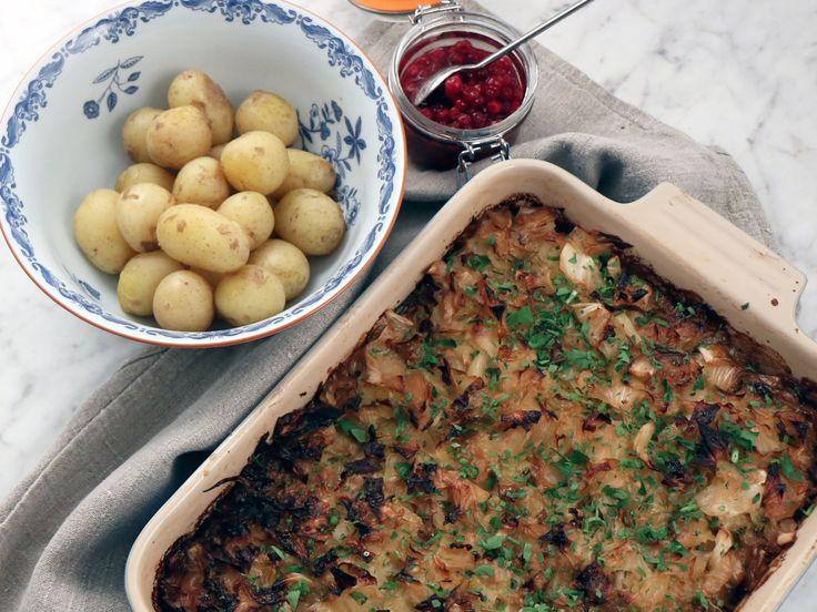 Vegetarisk kålpudding med potatis | Recept från Köket.se