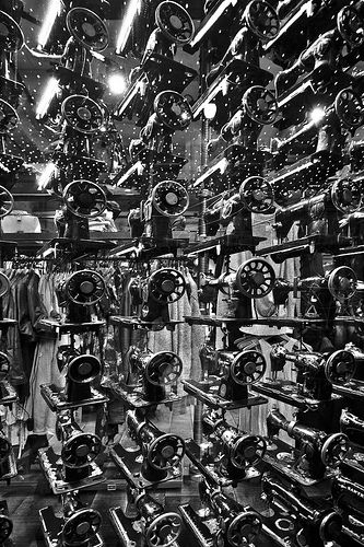 Singer sewing machines - All Saints shop front, Glasgow