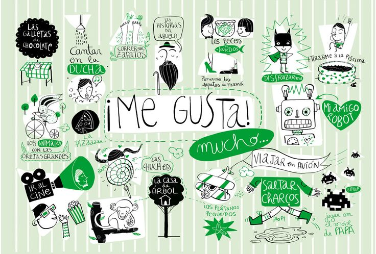 ¿Y a ti? ¿qué te gusta?   (Ilustración de Amaia Arrazola) - would make a cute classroom poster