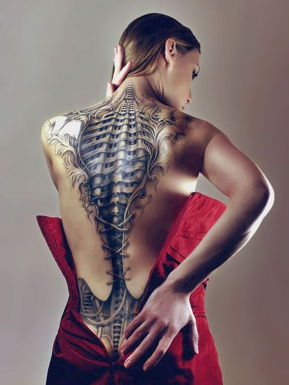 50 Jaw Dropping BioMechanical Tattoos Designs