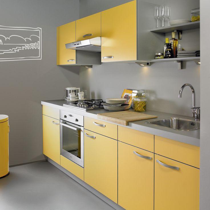 25 beste idee n over gele keukens op pinterest blauw gele keukens gele keukenmuren en gele - Keuken grijs en blauw ...
