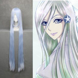 """48"""" Silver Purple Straight Cosplay Wig -- BLEACH Sodeno Shirayuki by Allnicecos. $33.80. Adjustable net-cap fits most head size. Use it year round, whether for costume, fashion, or just for fun. Material:100% High-quality Synthetic fiber anti High-temperature. Length: 48"""". Please note: This item's color may vary due to inherent manufacturing variations or your computer monitor's color settings. The item you receive will be identical or substantially similar to th..."""