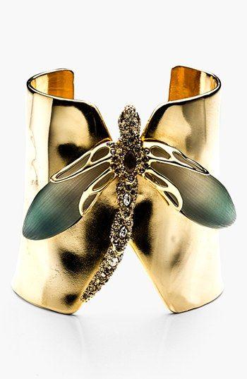 Alexis Bittar 'Lucite® - Neo Bohemian' Dragonfly Cuff Bracelet