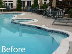 Pool Remodel Ideas swimming pool renovation after h Before Remodelinglandscaping