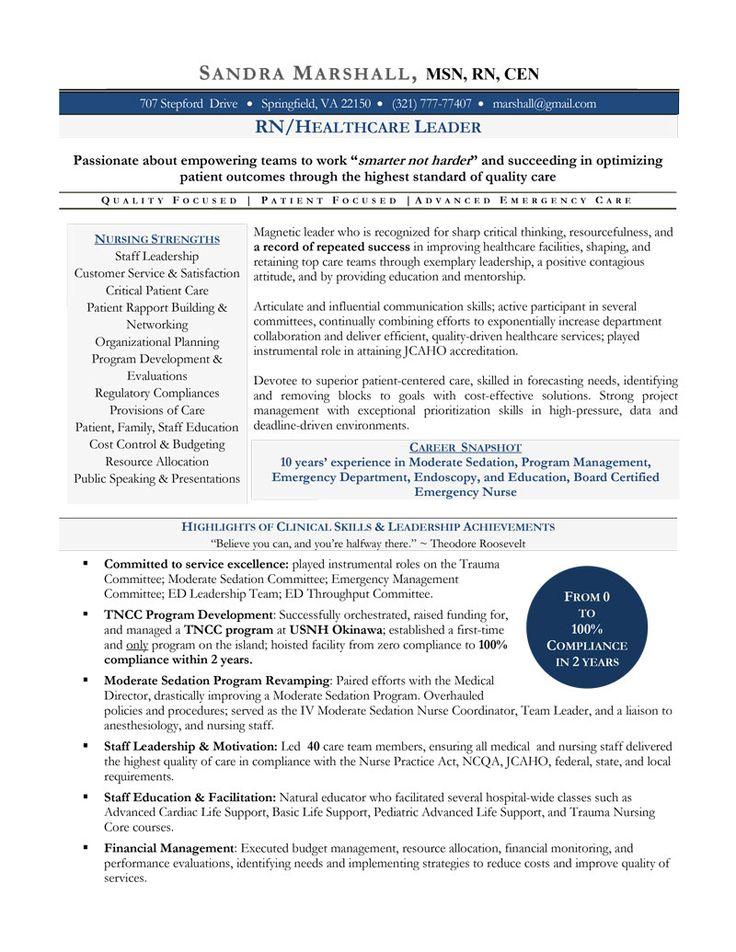 leadership Nurse Nursing resume template, Nursing