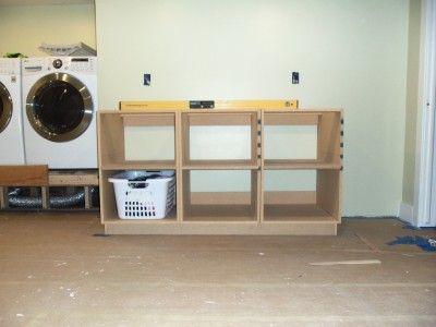 DIY Laundry Room Cabinets « « TodaysMama TodaysMama
