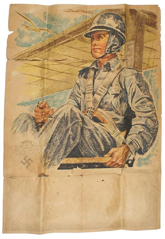 German WWII NSFK poster