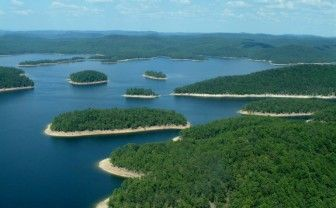 Swimming areas at Broken Bow Lake located in Beavers Bend State Park in McCurtain County