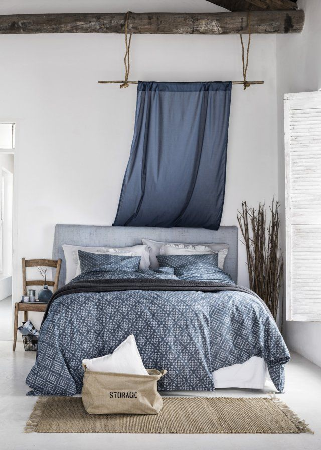 Patterned blues and natural details refreshing atmosphere plus de découvertes sur déco tendency com