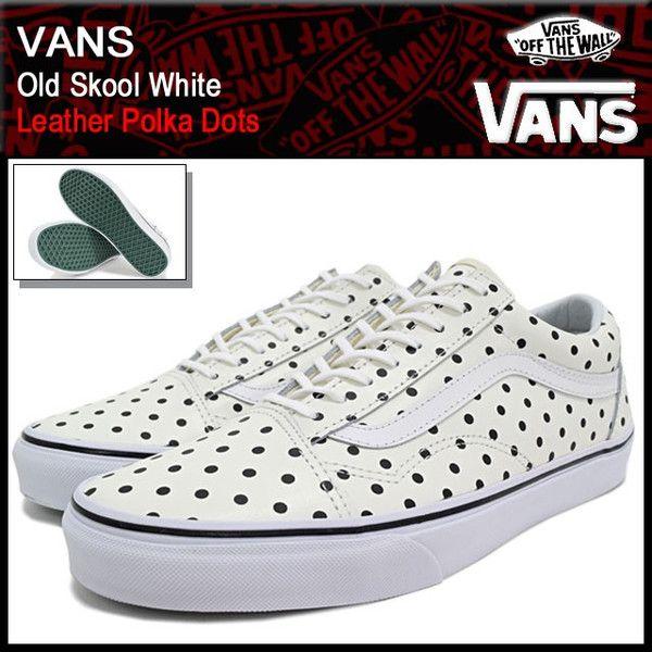 999e3b92d7 VANS White (vans VN-0003Z6HUK Old Skool Leather Polka Dots)  icefield VAN-