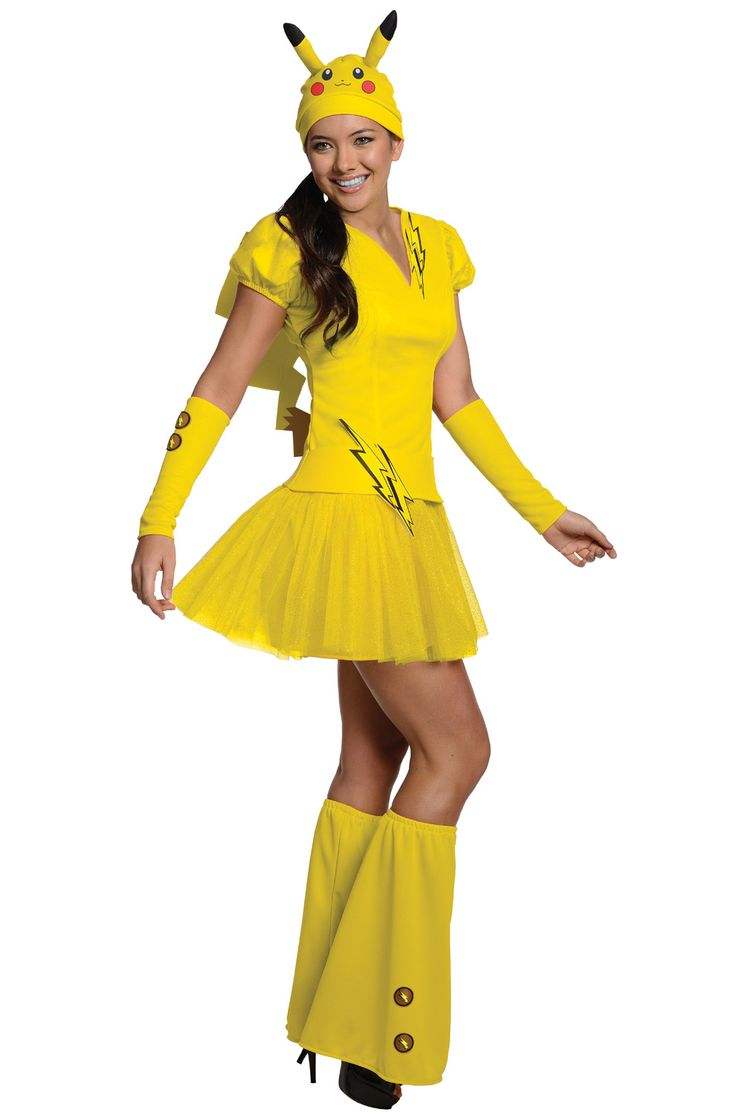 My kids would love it if I surprised them by wearing this costume for Halloween! @purecostumes http://www.purecostumes.com/R887326/female-pikachu-adult-costume.html