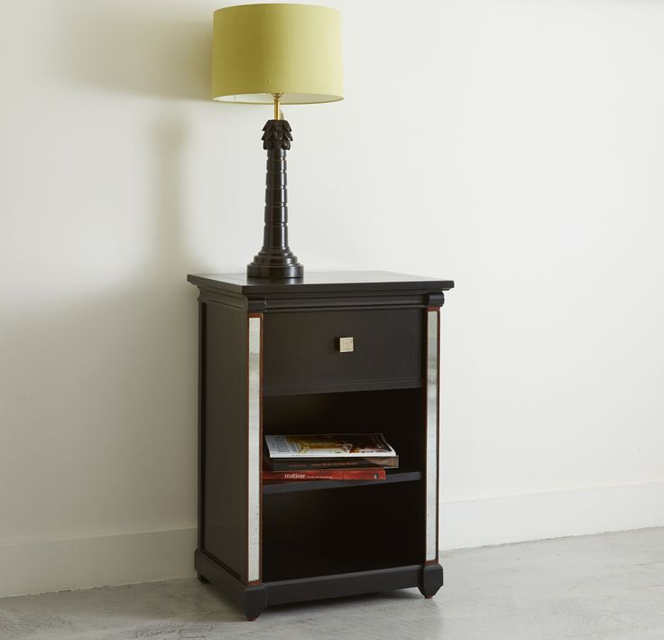 The Torberry Bedside Table, a modernist piece with handy shelving simonhorn.com