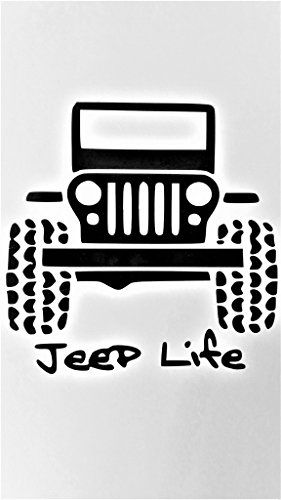 "Jeep Life Off Road 4 X 4 Wrangler Rubicon Vinyl Decal Sticker|BLACK|Jeeps Cars Trucks Suvs Laptops Tool Box Wall Art|5"" X 5""
