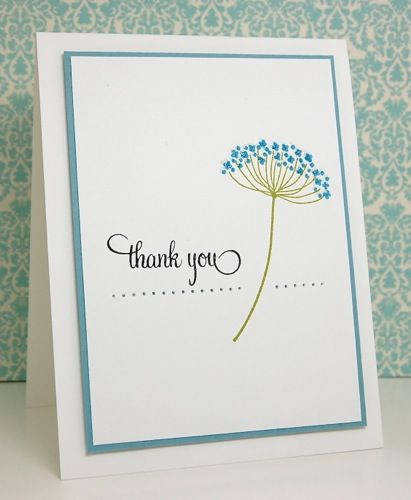 clean and simple card with a delight design ... luv the balance between the flower and the THANK YOU ... sweet!!